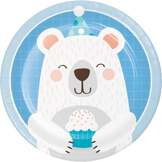Bear Dessert plates  it/'s a boy  baby shower plates  bear plates  1st birthday bear party baby shower bear birthday party