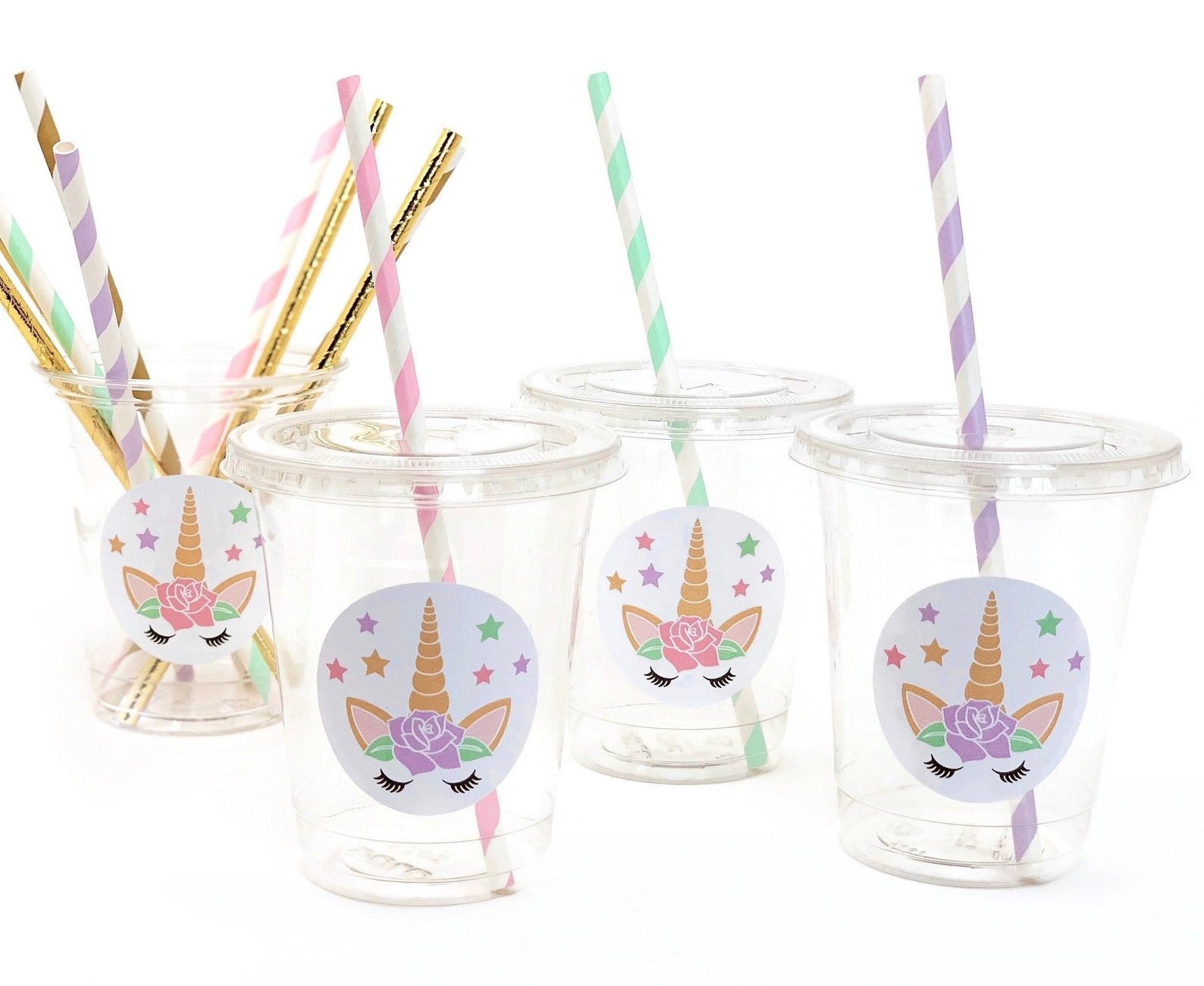 Unicorn Plastic Party Cups Page Two