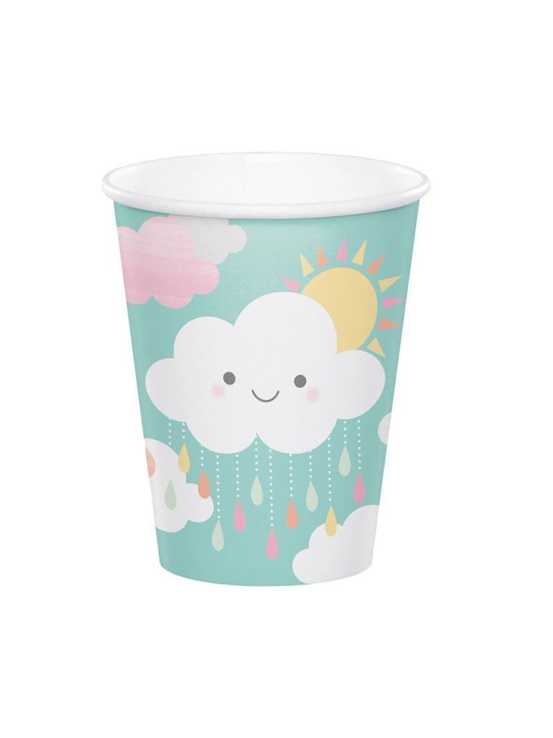 You are my Sunshine Sunshine Baby Shower Cloud Baby Shower Baby Sprinkle Cloud Cups Rainbow Baby Shower Party Cups Rainbow Cloud