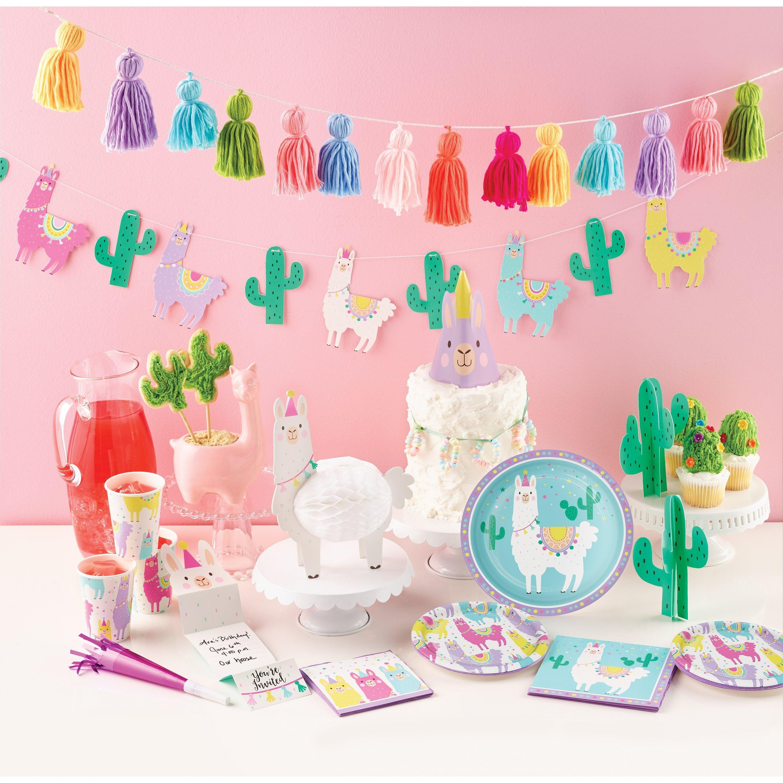 df583ec478713 Llama Cactus Banner - Llama Party Decorations, Llama Birthday, Llama Party  Decor, Fiesta Party Decor, Llama Banner