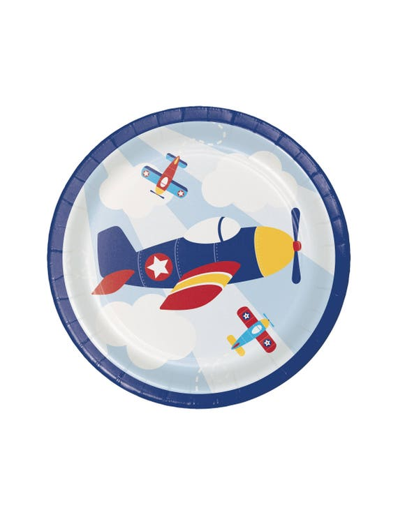Airplane Party Cake Plates For Baby Shower And Birthday Party Etsy