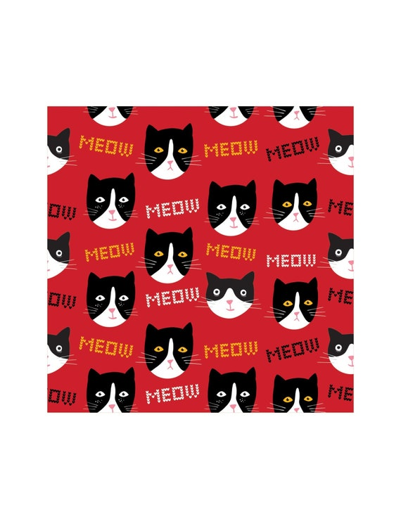 Cat Napkins Party Decor Kitten Birthday Kitty
