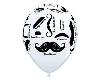 Mustache Balloons - Little Man Party - Little Man Baby Shower - Mustache Baby Shower - Mustache Birthday - Couples Shower - Bachelor Party