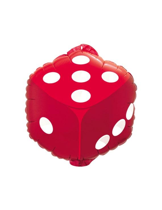 18 Red Dice Balloon Casino Las Vegas Party