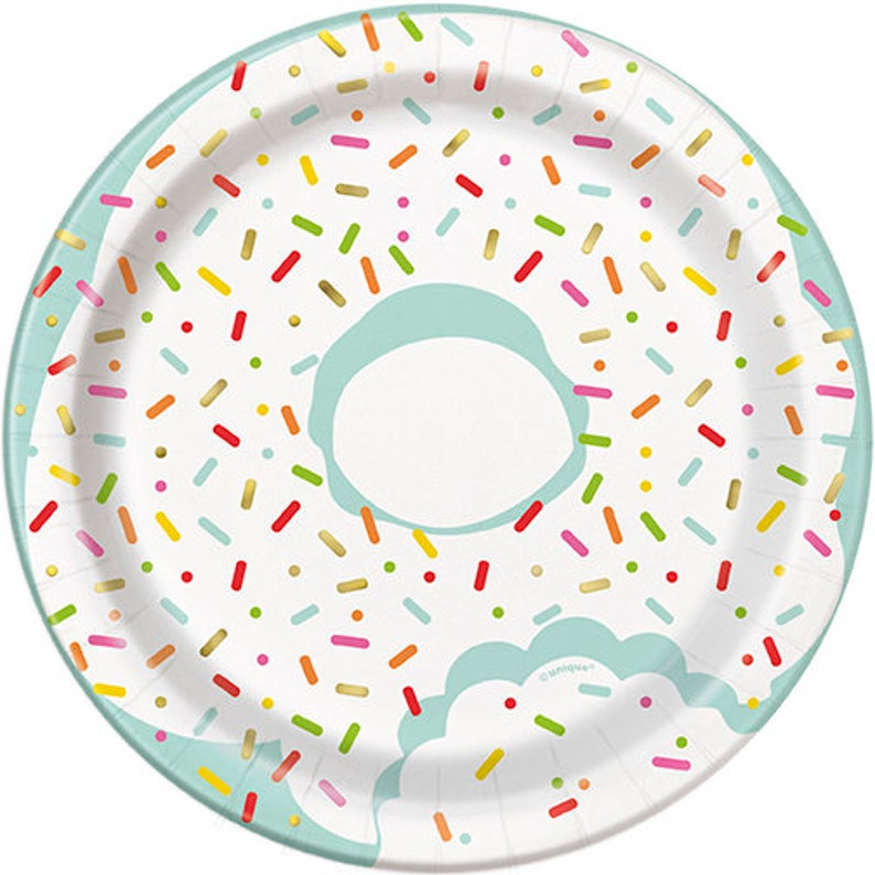 Donut Party Cake Plates  Donut Plates Donut Birthday Donut image 1