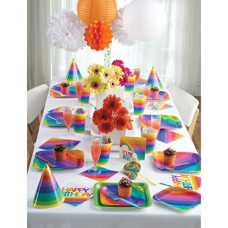 Rainbow Unicorn Party Unicorn Party Unicorn Birthday -Rainbow Party Rainbow Baby Shower 36 Rainbow Balloon Sprinkles Party