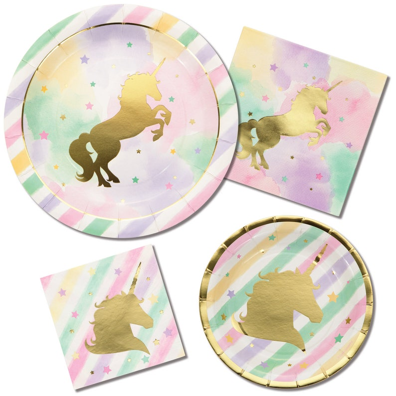 Unicorn Party Plates Unicorn Plates Unicorn Cake Plates Unicorn Party Supplies Unicorn Birthday Party Unicorn Party Decorations