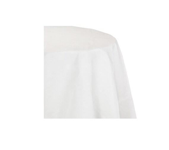 nappe ronde nappe blanche tableau décoration table de | etsy