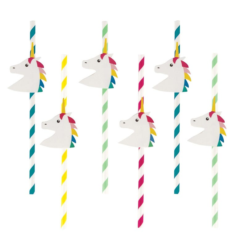 Unicorn Straws - Unicorn Birthday Party Supplies - Unicorn Party - Unicorn  Baby Shower - Rainbow Straws - Rainbow Baby Shower - Party Decor