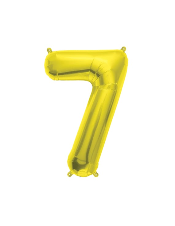 16 Number Balloons Gold 7 Balloon 7th Birthday