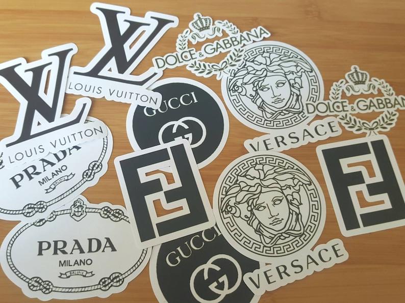 1e1ebf975d8a Sticker Pack Gucci Versace Prada Louie Vuitton Fendi