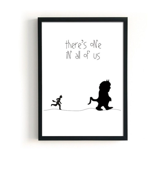 Where the wild things are print ALL SIZES downloadable   Etsy