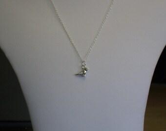 9c01c2034 Sterling silver, Sparrow necklace, Sparrow pendant, Sparrow charm, Sparrow  jewellery, bird jewellery, Tiny sparrow necklace, Silver bird