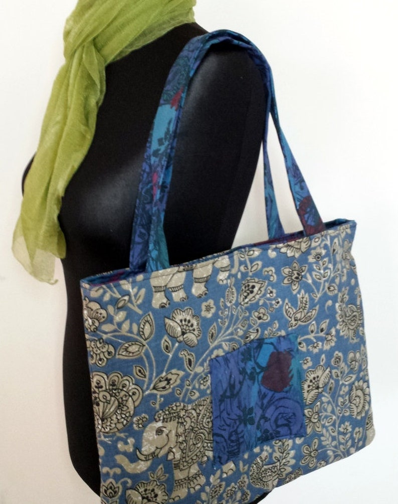 Women/'s Large Bag Woman/'s Tote Elephant Bag Cotton Handbag Women/'s Tote Indian Bag Woman/'s Large Bag Gift For Her Cotton Tote Bag