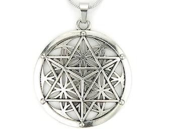 Flower of Life Pendant Sacred Jewelry Sacred Geometry Protection Jewelry Flower of Life Yogi Flower of Life Jewelry Geometric Jewelry