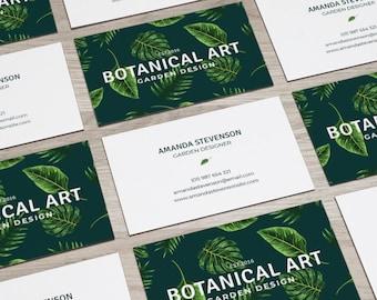 Tropical Card, Botanical Card, Business card, Business Card Design, Modern Business Card, Branding, Personal Card, Calling Card, Card Design