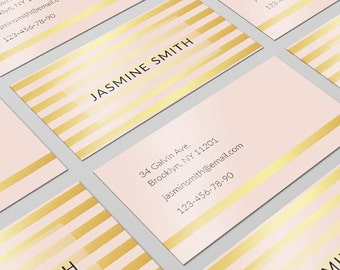 Golden Business Card, Modern Business Card, Business Card Design, Printable Card, Card Template, Personalized Card, Calling Cards