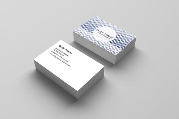 Blauer Visitenkarten Blauer Wellen Karte Visitenkarten Persönliche Karten Visitenkarten Visitenkarten Design Personalisierte Karten