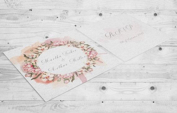 Druckbare Set Hochzeit Einladung Blumen Hochzeit Blumen Etsy
