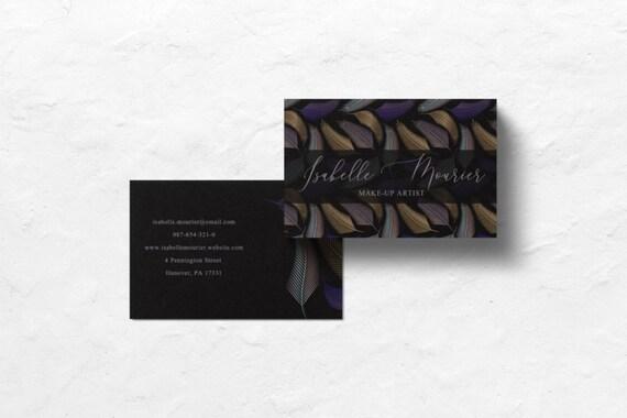 Maquillage Artiste Cartes Personnelles Dappel Carte De Visite Design Moderne