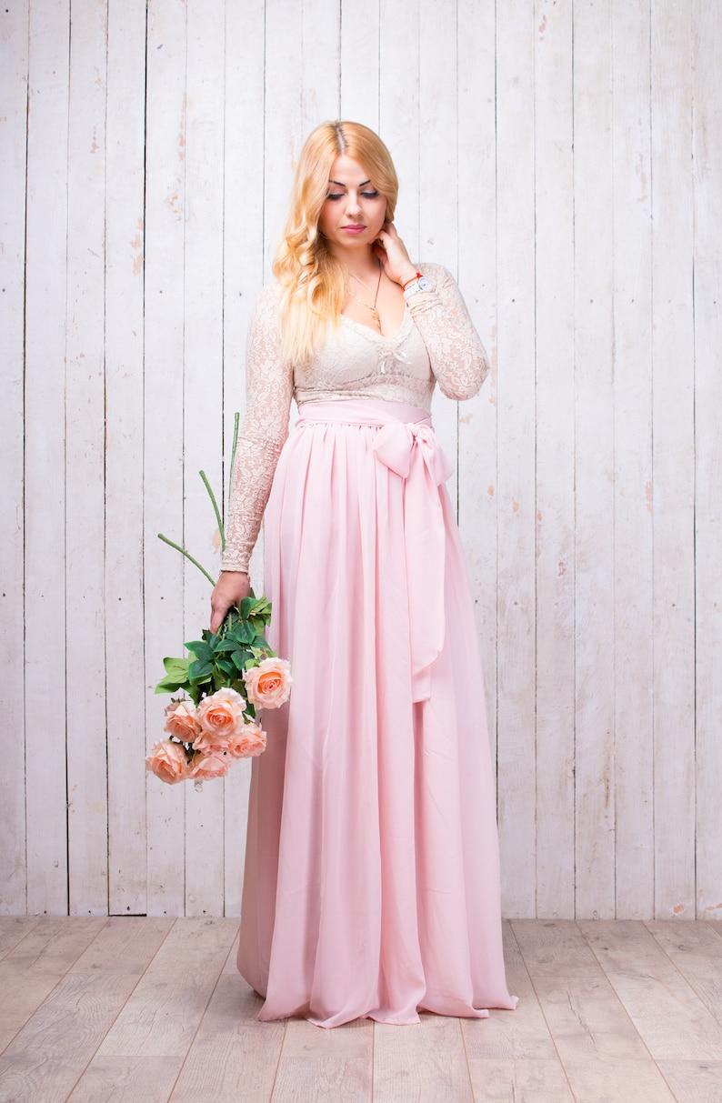 7e3ac7a2880 Maternity Chiffon Maxi Skirt