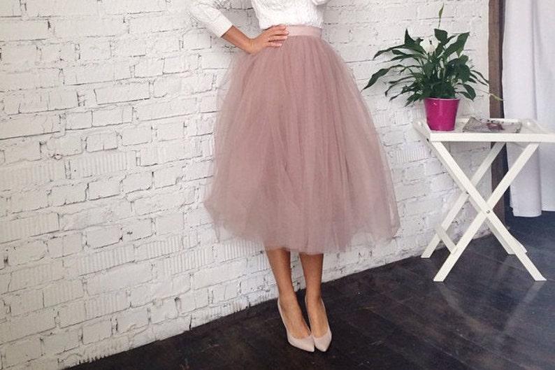 Bridesmaid dusty rose tulle skirt adult tutu skirt