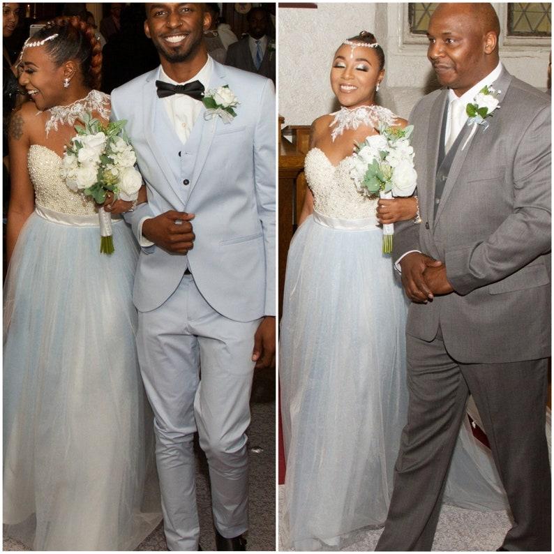 d9a445a02b2 Jupe en tulle bleu pour mariage bleu ciel robe de mariée