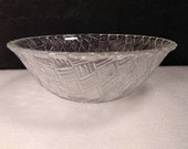 Vintage Anchor Hocking Clear Glass Serving Bowl