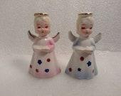 Vintage Porcelain Angel Candlestick Holders made in Japan