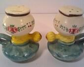 Ceramic Hurricane Lamp Salt and Pepper Shakers Set