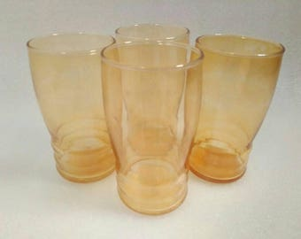 cbf681753977 Vintage Set of 4 Federal Glass Drinking Glasses