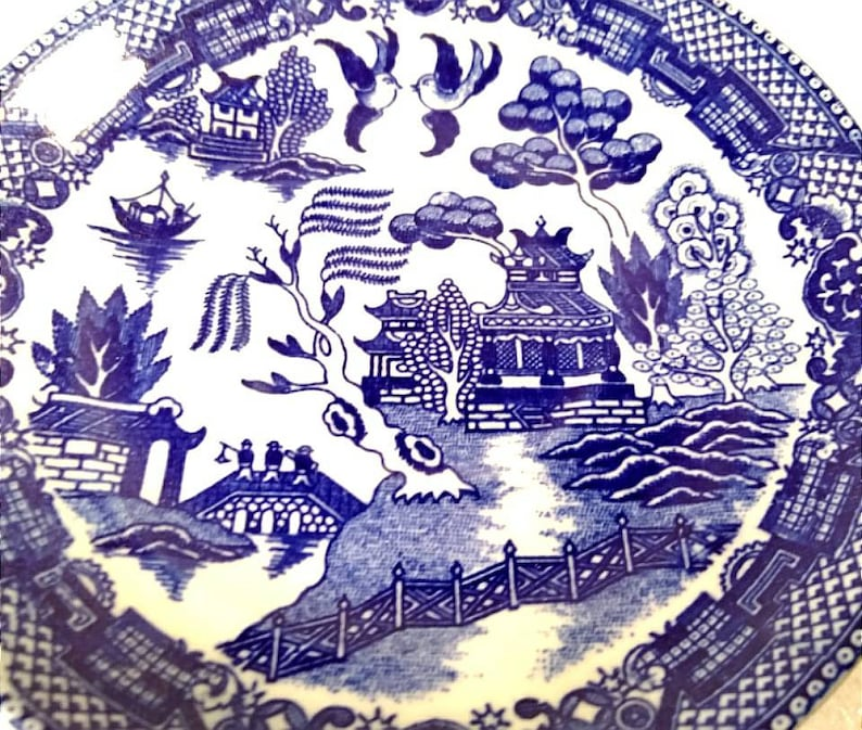 Set of 6 Blue Japan Saucers