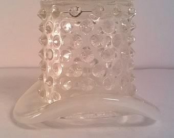 Vintage Fenton Hobnail Glass Top Hat Figurine