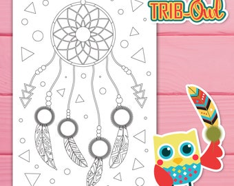 Coloring Pages, TribOWL , Coloring Activity , Fun Activity, Kids Activity
