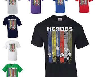 f3d1c059 Free Shipping Heroes T-Shirt Firefighter Police Military 911 Dispatch First  Responder EMT USA Pride 9/11 Mens Ladies Shirts Available