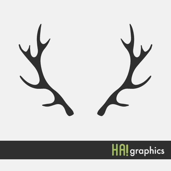 svg and dxf file deer antlers silhouettes clipart vector rh etsystudio com whitetail deer antler clip art deer antler clip art free