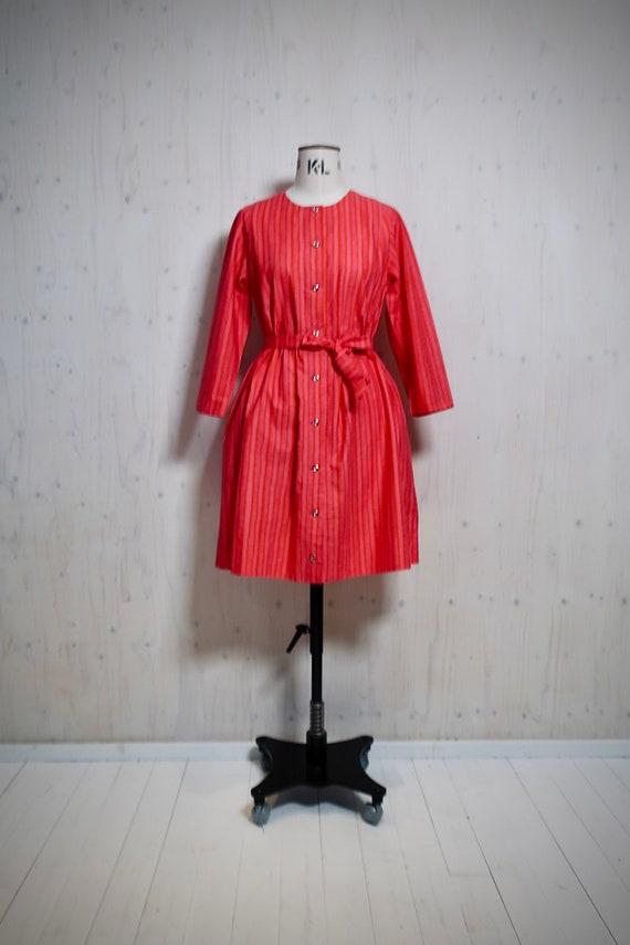 MARIMEKKO vintage dress, KUKKARAITA, pink, orange