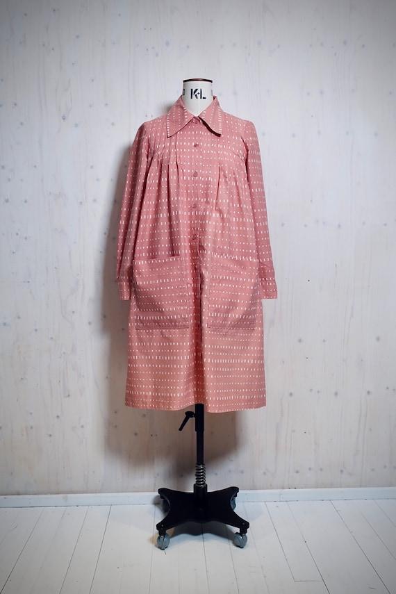 MARIMEKKO vintage dress, old rose, white