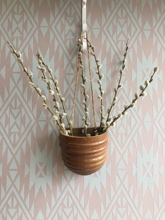 Jahrgang Blumentopfe Wand Blumentopfe Blumenvase Keramik Etsy