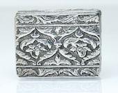 Antique Victorian Silver Pill Snuff Box