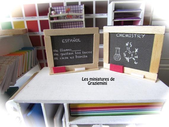 Miniature School Folders 3 and Paper for DOLLHOUSE School Scene 1:12 Scale