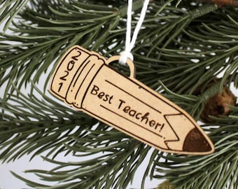 Personalized Teach Ornament
