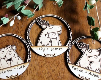 Personalized Deer Ornaments