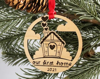 Our First Home Ornament (with option for personlization)