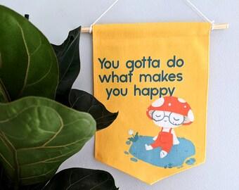 Happy Mushroom Banner