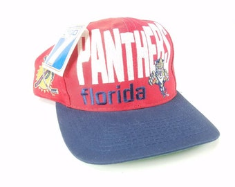 Florida Panthers Logo 7 Snapback Hat Vintage 90s FREE Shipping NHL Ice  Hockey Deadstock cb50928e062