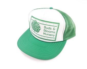 ba4057fc5b84b Buds And Blooms Nursery Mesh Trucker Snapback Hat Vintage 90s Marijuana Pot  Weed Dope Mary Jane FREE Shipping