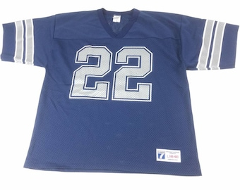Emmitt Smith Large 46-48 Logo 7 Mesh Dallas Cowboys NFL Football Jersey  Vintage 90s Made In USA Hall Of Fame FREE Shipping 409e649a3