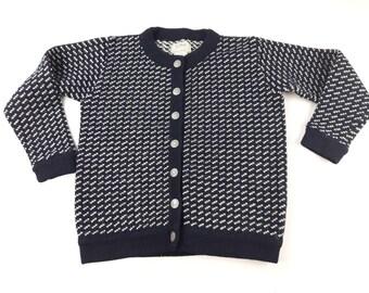 227f34224c8 LL Bean Ladies Medium Rayon Wool Blend Cardigan Sweater Vintage 90s Made In  Norway