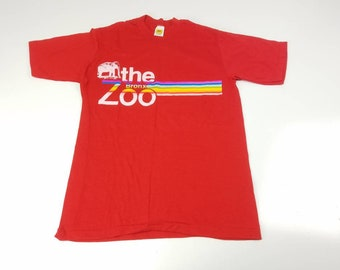 d60599941963be The Bronx Zoo Large Velva Sheen Single Stitch T Shirt Vintage 90s Made In  USA New York FREE Shipping
